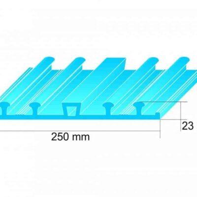 Băng cản nước PVC KC250 chống thấm mạch ngừng bê tông