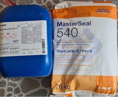 Sản phẩm vữa chống thấm đàn hồi gốc xi măng polymer 2 thành phần Basf Masterseal 540