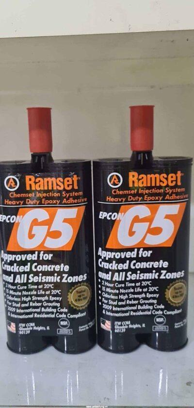 Sản phẩm hóa chất neo cấy thép (Neo cấy bulong) Ramset Epcon G5