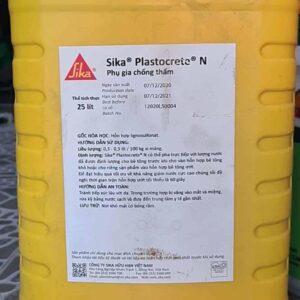 Sản phẩm phụ gia chống thấm cho bê tông dạng lỏng Sika Plastocrete N - Can 25L