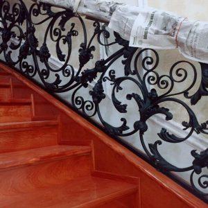 Cầu thang sắt mỹ thuật đẹp CTTA 004