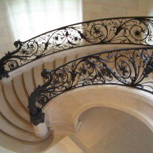 Cầu thang sắt mỹ thuật đẹp CTTA 012