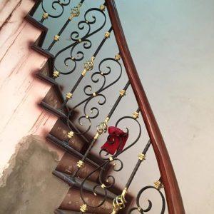 Cầu thang sắt mỹ thuật đẹp CTTA 019