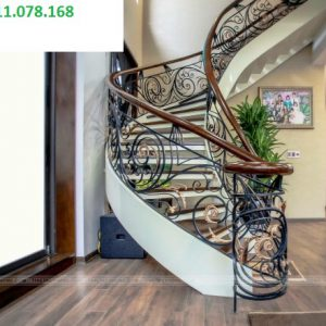 Cầu thang sắt mỹ thuật đẹp CTTA 026