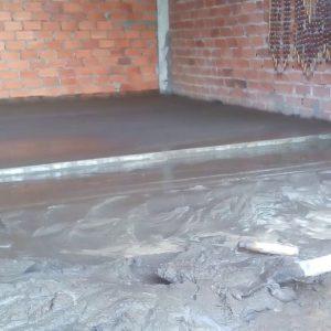 Láng nền (Cán vữa nền nhà) chiều dày 2 - 4 cm