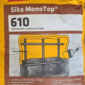 Chất kết nối và bảo vệ cốt thép trong công tác sửa chữa bê tông Sika Monotop 610 - Bao 25kg