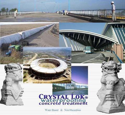 Ứng dụng chống thấm của Crystal Lok