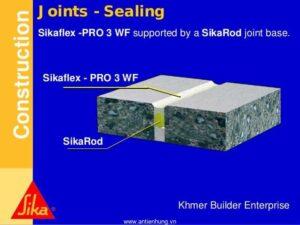 Xử lý khe co giãn bằng Sikaflex Pro 3wf