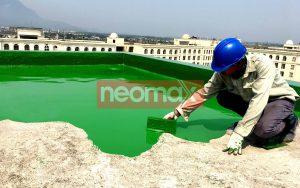 Thi công chống thấm sàn mái bằng sơn chống thấm Polyurethane Neomax 201