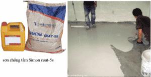 Thi công Vinkems Simon Coat 5S sơn chống thấm xi măng polymer