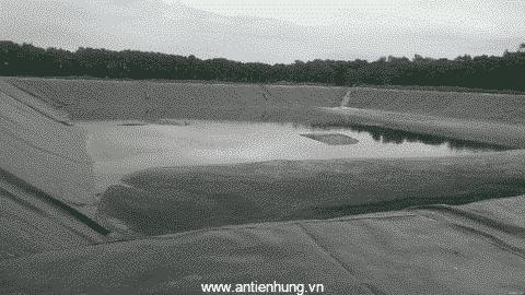 Ao nuôi sử dụng màng chống thấm HPDE Solmax 1.0mm