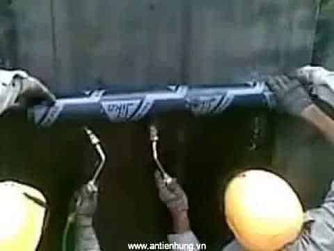Thi công chống thấm bằng màng chống thấm khò nóng Sika Torch 3 VN
