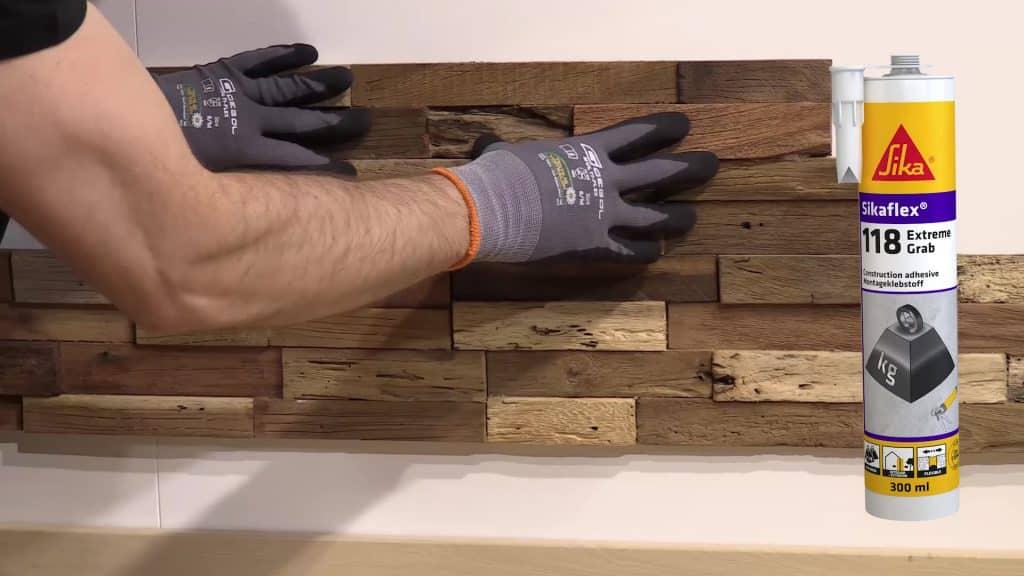 Dán gạch gỗ trang trí