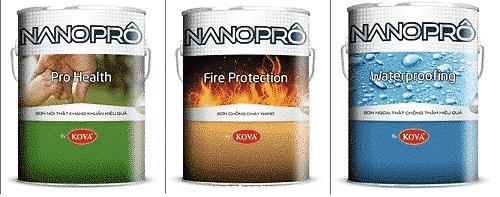 Hình ảnh sản phẩm công sơn chống cháy Nanoprô