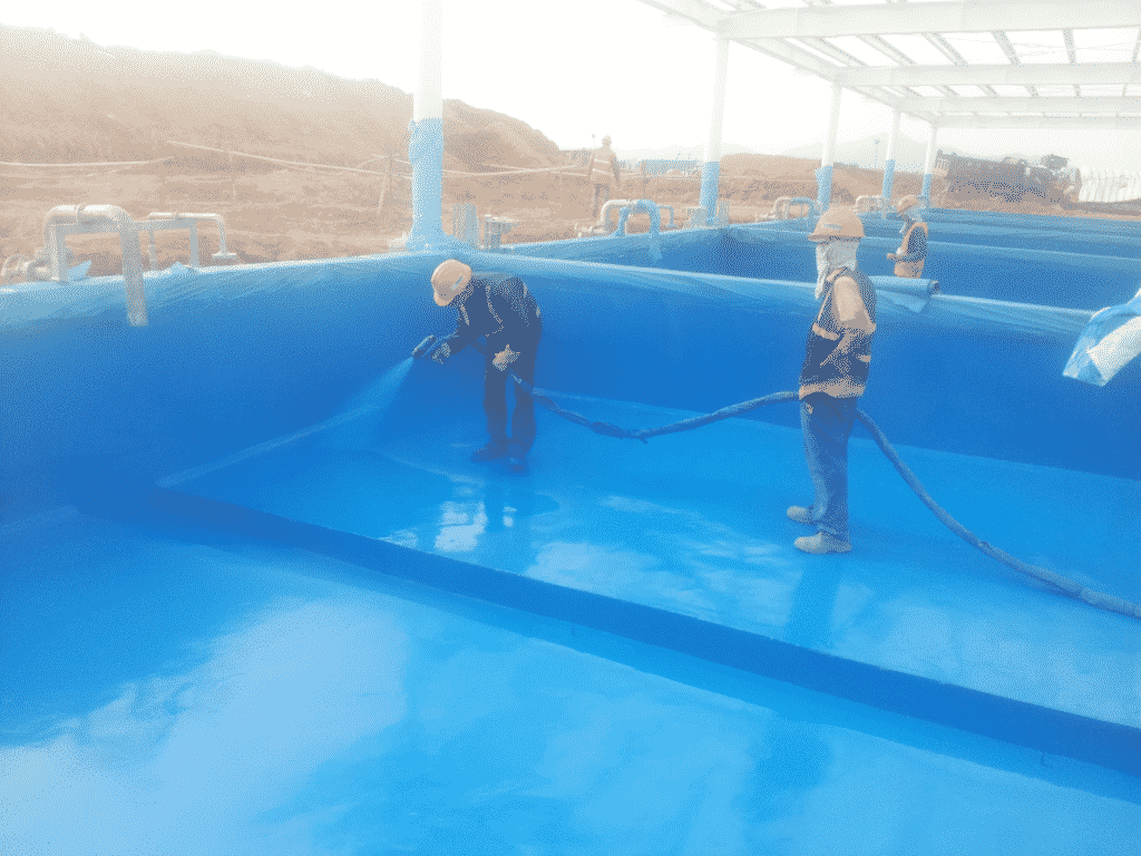 Sử dụng sơn lót Bestprimer EP703 để chống ẩm cho bể bơi mang lại hiệu quả cao