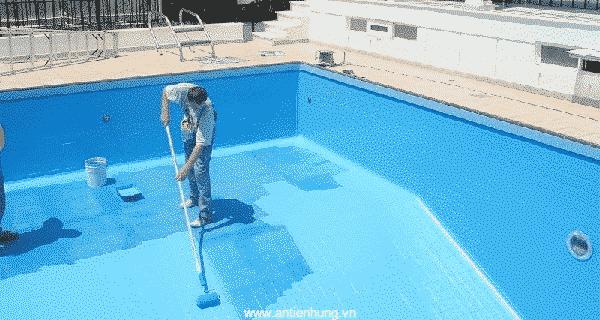 Sử dụng Bestprimer EP703 để lót chống ẩm cho bể bơi trong gia đình hay khu kinh doanh