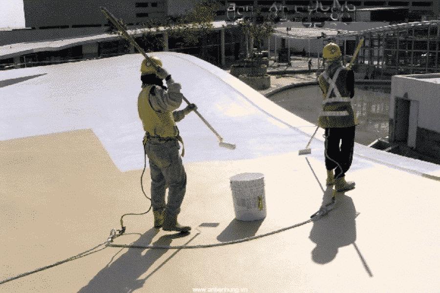 Tiến hành thi công chống thấm ở các công trình với sản phẩm chống thấm Bestseal AC407