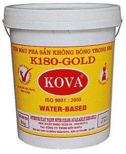 Sơn màu pha sẵn trong nhà K180 - Gold - sự lựa chọn hàng đầu cho không gian của bạn