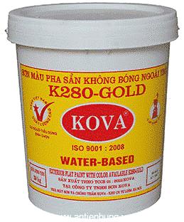 Sơn pha sẵn ngoài trời K280-gold của hãng sơn Kova