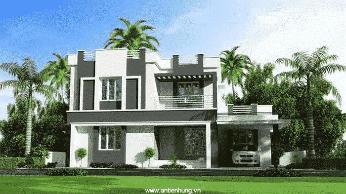 Hình ảnh ngôi nhà nổi bật hơn nhờ sản phẩm sơn phủ bóng Clear chống thấm