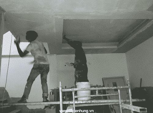 Sử dụng bột bả trong nhà MB-T cho các công trình xây dựng