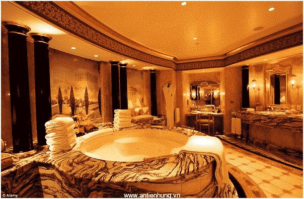 Hình ảnh công trình được sử dụng sơn nhũ vàng của An Tiến Hưng.