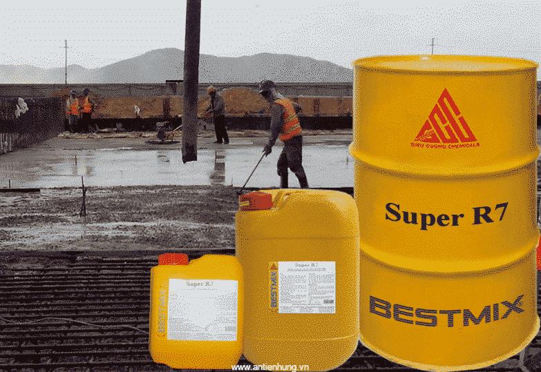 Super R7 dùng để sản xuất các loại bê tông