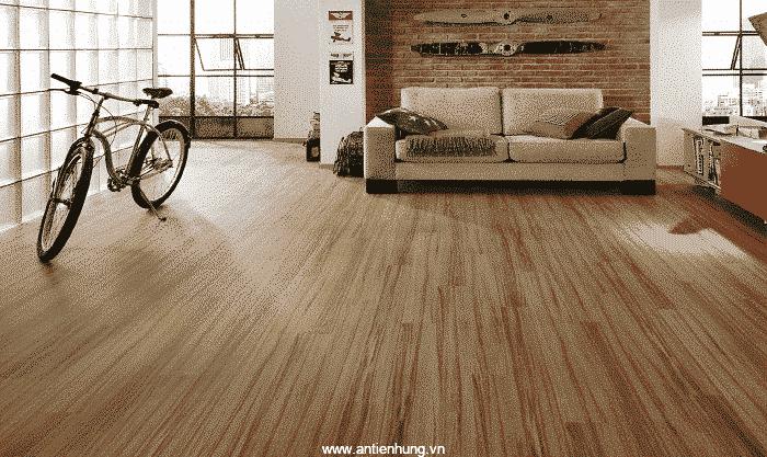 Hình ảnh sàn gỗ được sử dụng sơn bóng hệ nước phủ màu, lấp vân gỗ T3