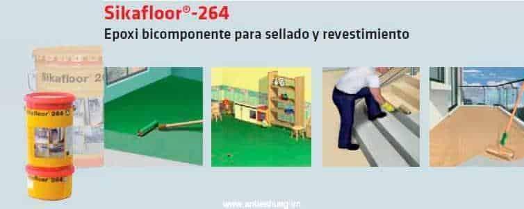 Ứng dụng sơn sàn epoxy Sikafloor 264