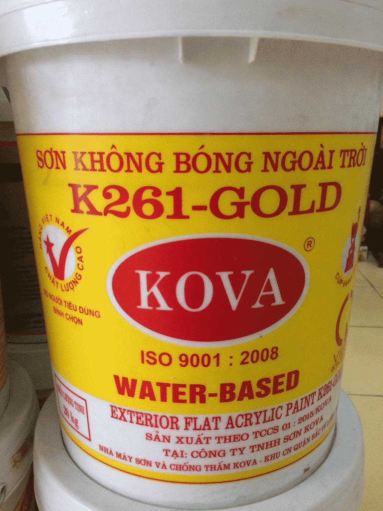 Quá trình thi công nhanh chóng với sơn Kova