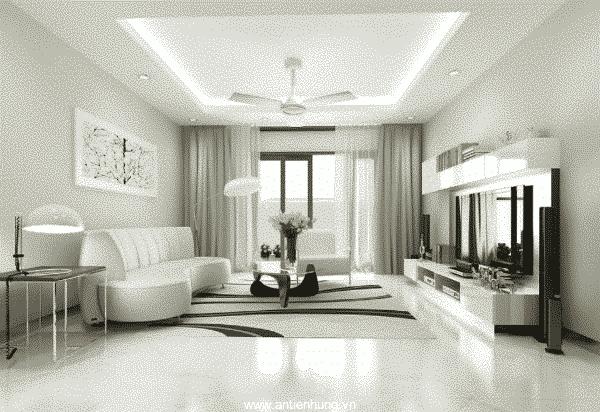 Vẻ đẹp sang trọng và hiện đại của căn phòng khi sử dụng sơn nội thất Nippon Matex Super White