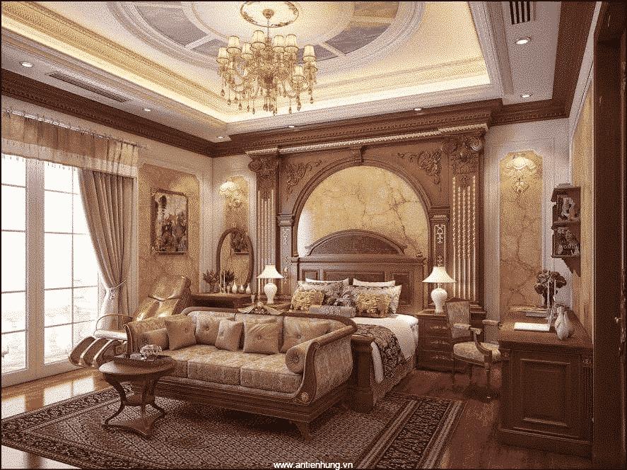 Ngôi nhà mang phong cách châu Âu với sơn giả đá