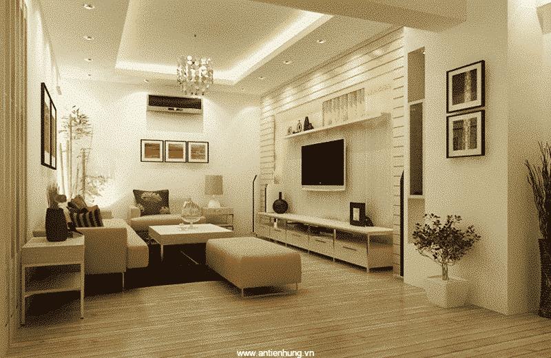 Căn phòng trở nên tươi sáng hơn sau khi vệ sinh bề mặt tường