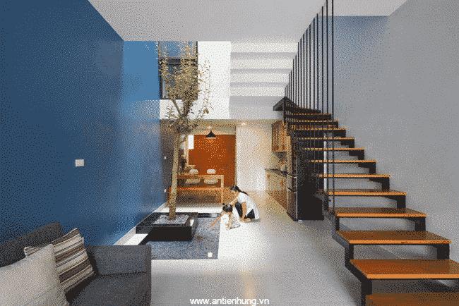 Ngôi nhà có màu sắc tươi sáng nhờ sử dụng sơn lót