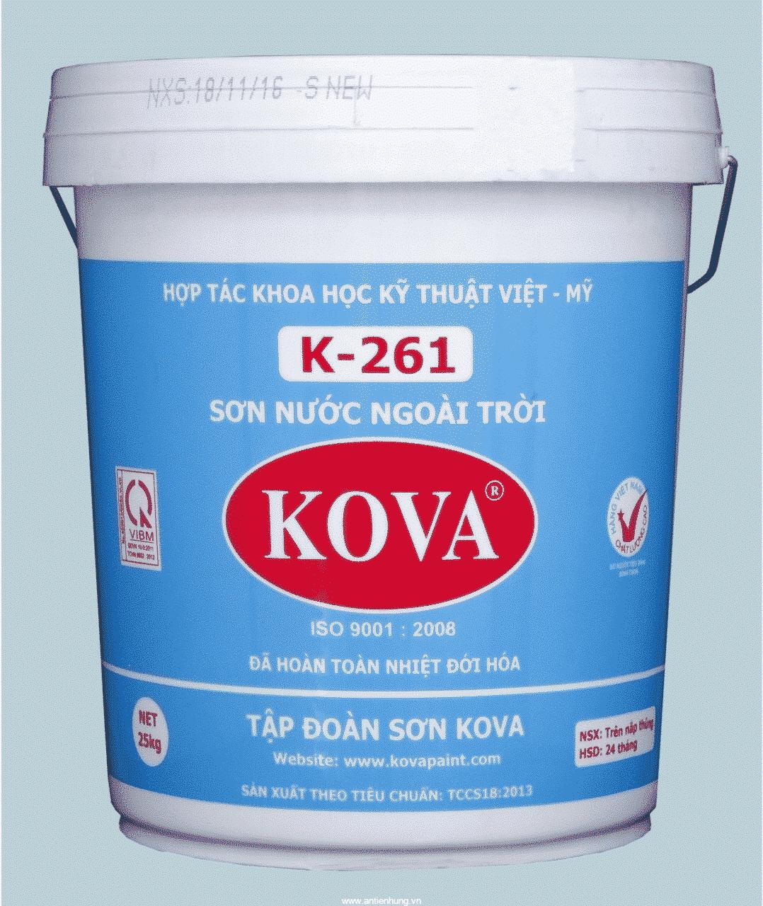 Sơn ngoại thất Kova K-261 phù hợp với khí hậu nhiệt đới