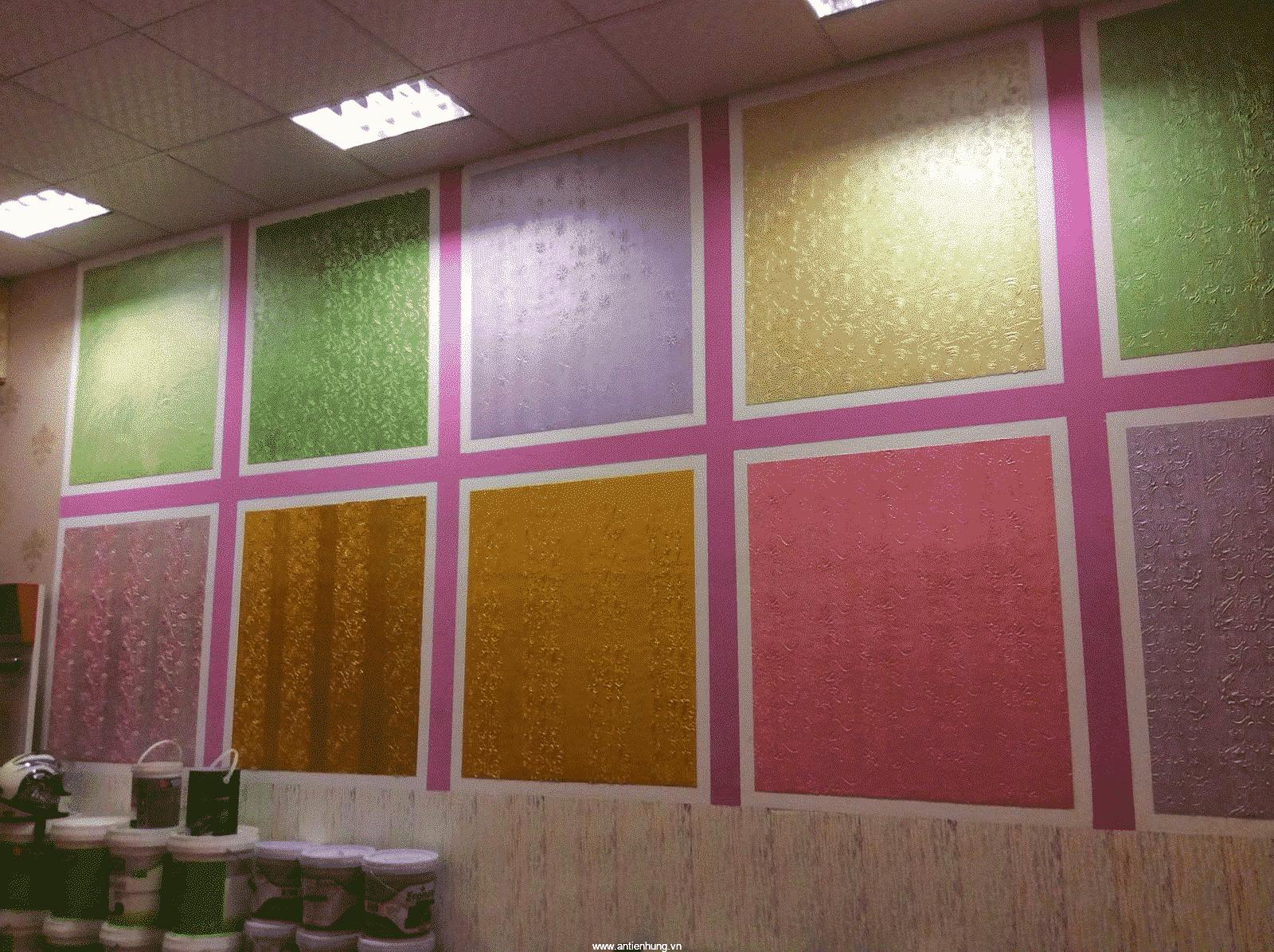 Bức tường sẽ có nhiều chi tiết với sơn gấm