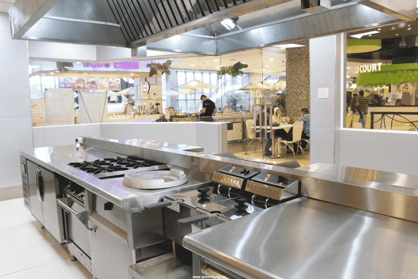Hợp chất tẩy rửa dầu mỡ BestCleaner SH020 còn được sử dụng trong các khu bếp công nghiệp