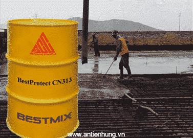 Bestprotect CN313 là phụ gia cho vào bê tông nhằm ức chế, kìm hãm quá trình ăn mòn của ion-Clo khi bê tông tiếp xúc với cốt thép, cáp căng dự ứng lực