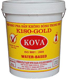 Sơn màu pha sẵn trong nhà K180 - Gold SP