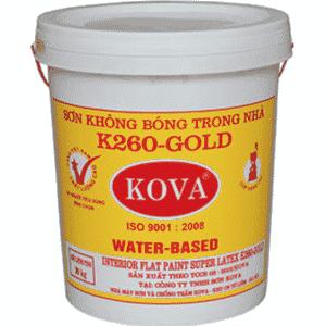 Sơn không bóng trong nhà K260 - Gold