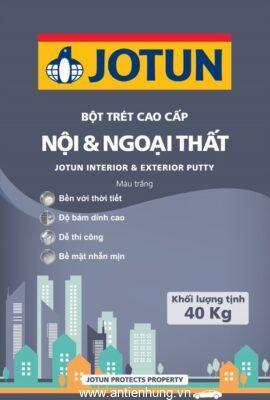 Bao bì của bột bả Jotun ngoại thất (40kg) có màu sắc nổi bật