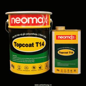 Neomax Topcoat T14là vật liệu gốc polyurethane, 2 thành phần, dùng để tạo lớp phủ bảo vệ ngoài cùng cho các lớp chống thấm gốc polyurethane, polyurea hoặc các hệ sơn khác.