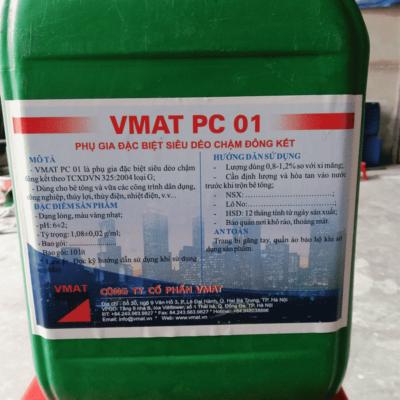 VMAT PC 01 phụ gia đặc biệt siêu dẻo chậm đông kết