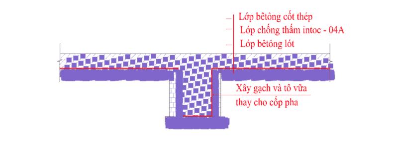 Chống thấm sàn tầng hầm sử dụng intoc 04 A