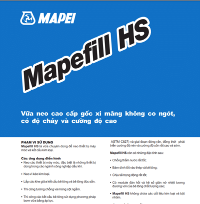 Mapefill HS vữa neo cao cấp gốc xi măng không co ngót