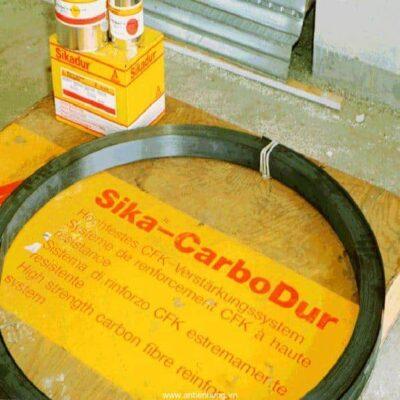 Sika CarboDur Plates Tấm sợi carbon ép đùn dùng để gia cố kết cấu