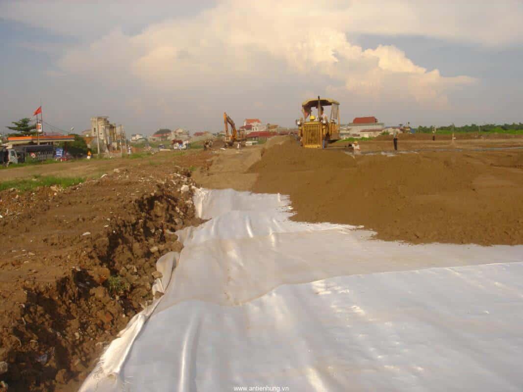 Xử lý nền đất yếu của đường đắp cao