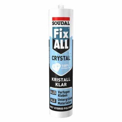 Soudal Fix All Crystal chất trám, kết dính 1 thành phần