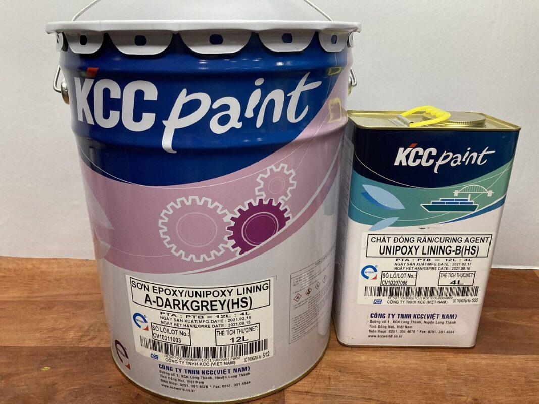 KCC Unipoxy Lining Sơn Sàn Epoxy Tự San Phẳng