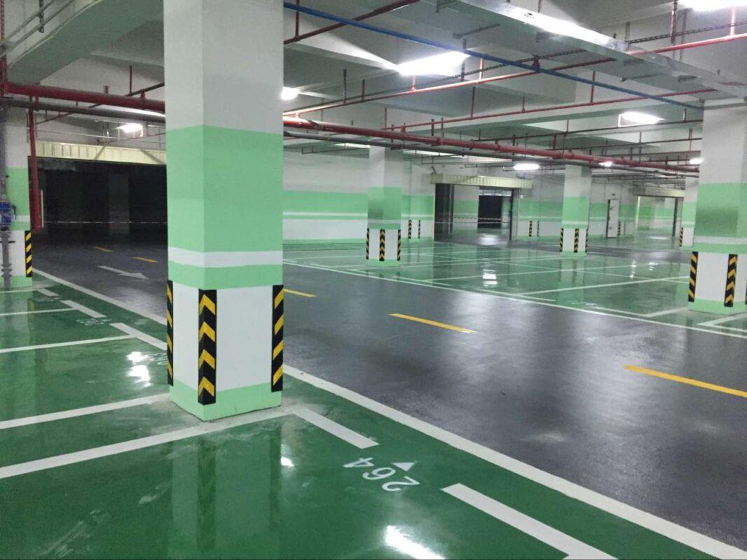 Thi công sơn sàn unipoxy lining cho bãi đỗ xe